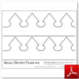 Small Paper Crown Template