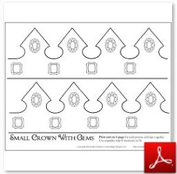 Crown Craft Template | Crafts For Kids Coloring Mini Books Bookmarks And More Free