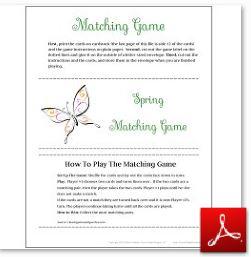 Spring Matching Game