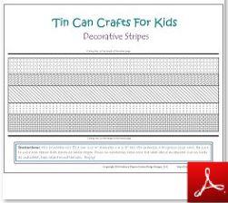 Tin Can Craft Decorative Organizer