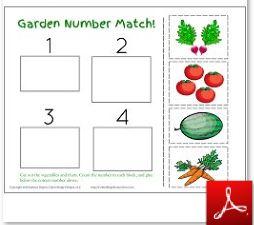 Garden Number Match