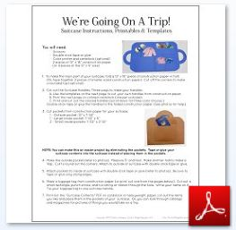 Suitcase Craft Instructions Templates Handles Tags OK
