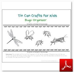 Tin Can Craft Bugs Organizer OK
