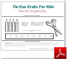 Tin Can Craft Pencil Organizer