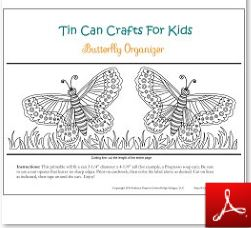 Tin Can Craft butterfly Organizer