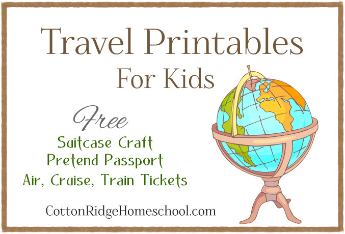 Cotton Ridge Homeschool  Free Passport Template For Kids
