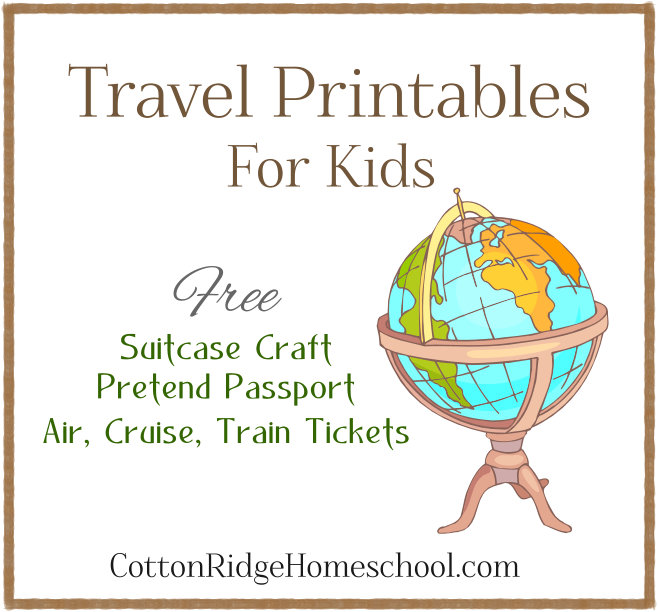 Free Travel Printables ~ Suitcase Craft, Pretend Passport, And More  Free Passport Template For Kids