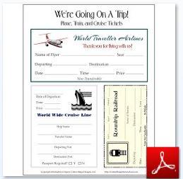 Travel Tickets Train Plane Cruise
