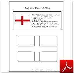 England Facts and Flag