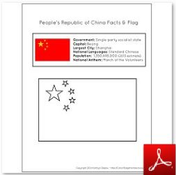 People's Republic of China Facts & Flag