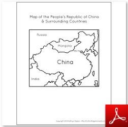 People's Republic of China Map