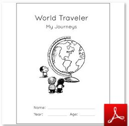 World Traveler Notebook Cover Page BW