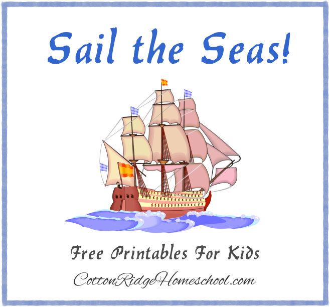 Sail the Seas Printables Button