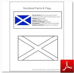 Scotland Facts and Flag