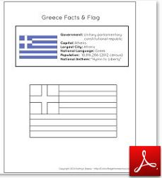 Greece Facts and Flag