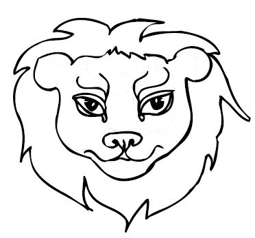 Lion Printable For Mosaic