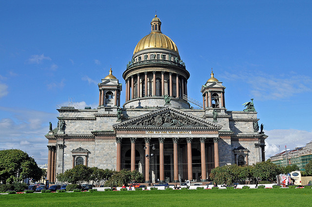 St. Isaacs Cathedral in Russia by Dennis Jarvis