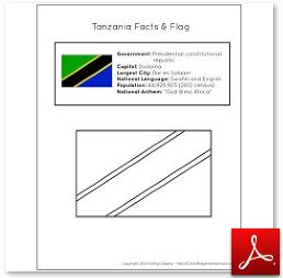 Tanzania Facts and Flag