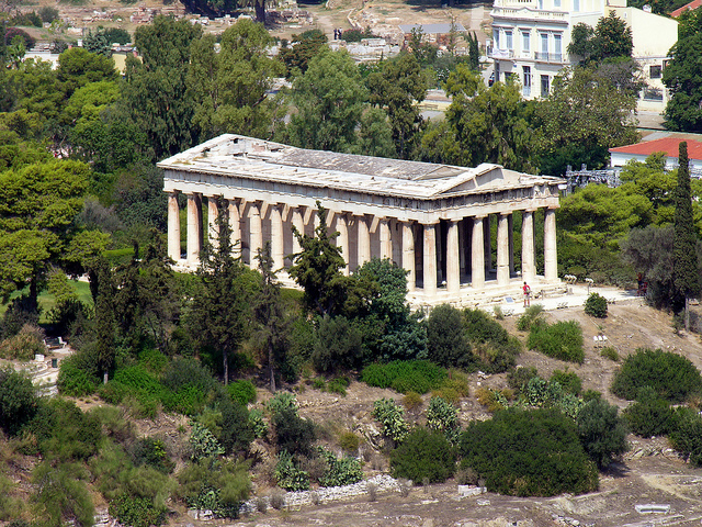 Temple of Hephaistos in Greece by Dennis Jarvis on flickr