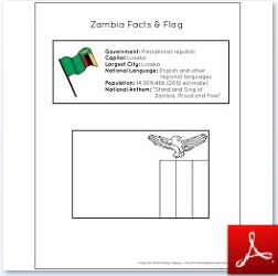 Zambia Facts and Flag