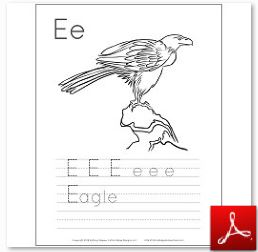 Eagle Coloring Tracing Page Fixed