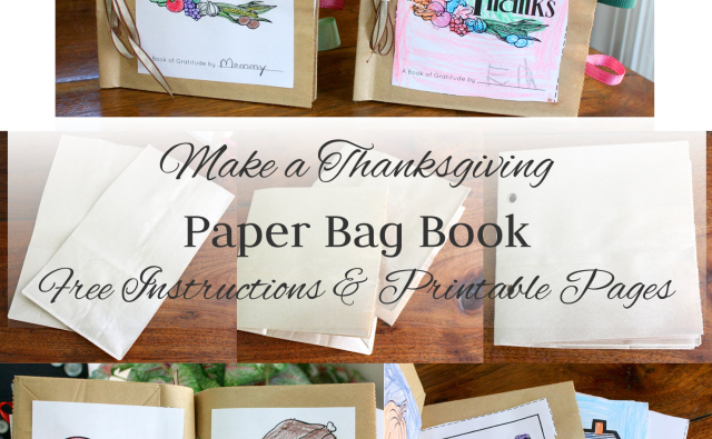 Thanksgiving Paper Bag Book Collage with Text