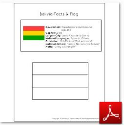 Bolivia Facts and Flag