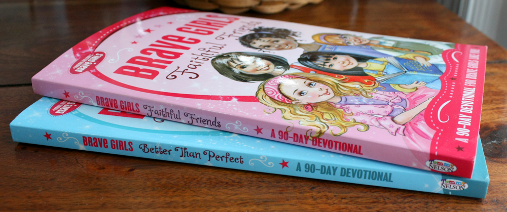 Brave Girls Devotional Books Spines