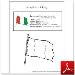 Italy Facts and Flag