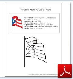 Puerto Rico Facts and Flag