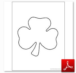 Shamrock Printables Black and White