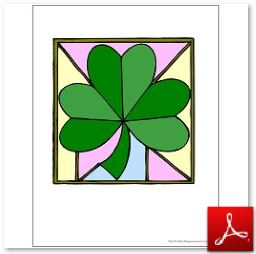 Shamrock Printables Color