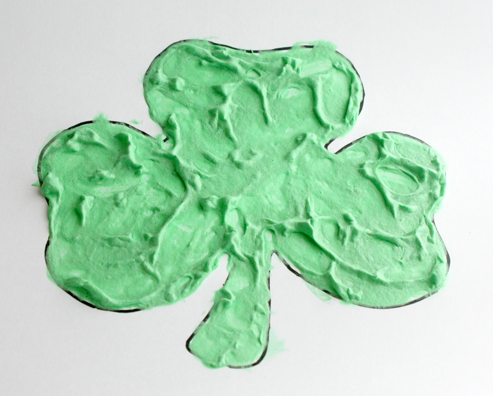 Shaving Gel Puffy Paint Shamrock