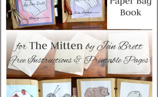 The Mitten Paper Bag Book Collage Button