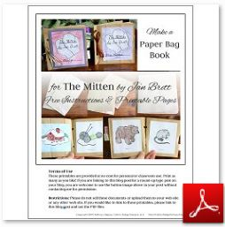 The Mitten Paper Bag Book Instructions and Printables