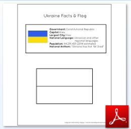 Ukraine Facts and Flag