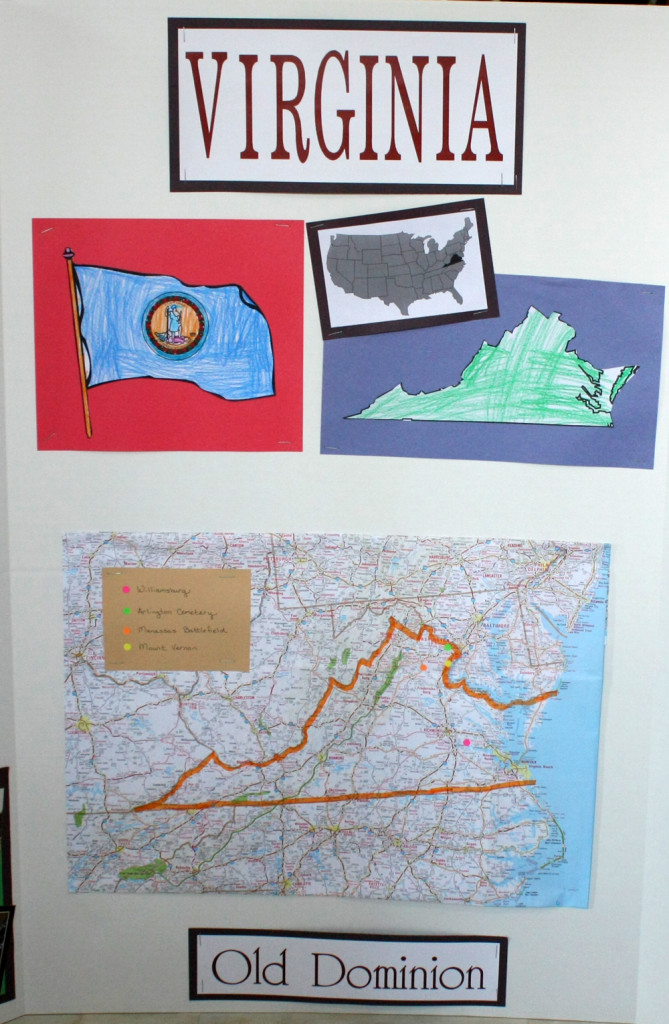 Geography Fair Display Board - Center