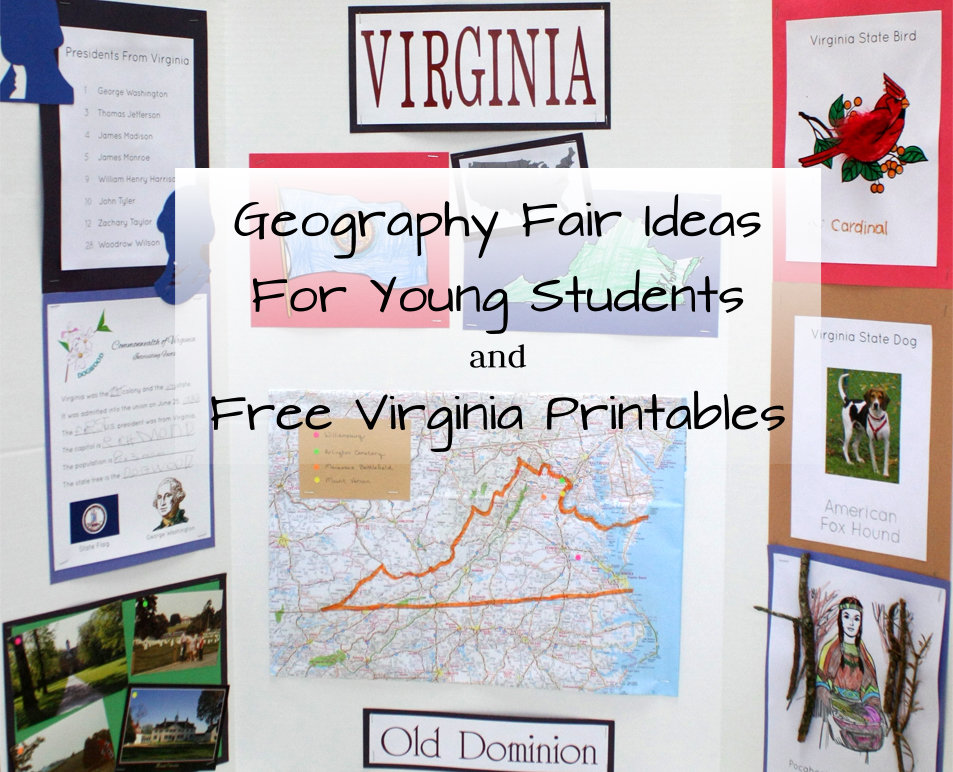 geography fair ideas for young students and free virginia printables