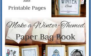 Winter Paper Bag Book Button