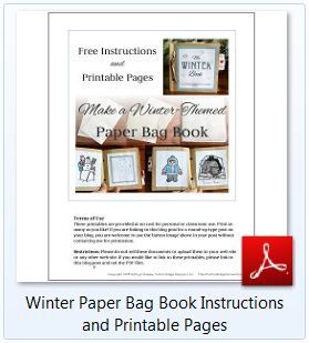 Winter Paper Bag Book Instructions and Printable Pages