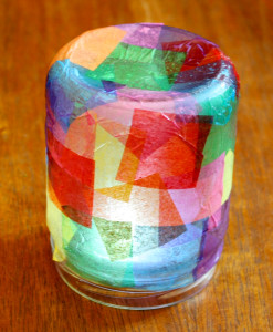 Tissue Paper Jar Votive Light