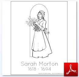 1627 Sarah Morton Coloring Tracing Page