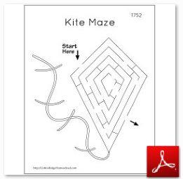 1752 Kite Maze For Ben Franklin