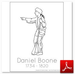 Early American History Assembling The Student History Daniel Boone Coloring Page