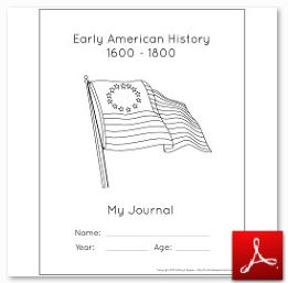 Early American History Notebook Cover Page BW
