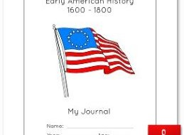 Early American History Notebook Cover Page Color