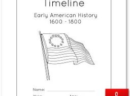 Early American History Timeline BW Cover Page