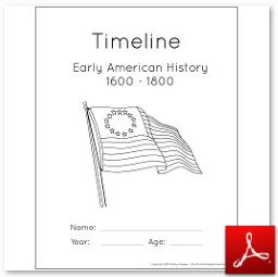 photo relating to Timeline Printable called Early American Background ~ Timeline Folders and Poster with
