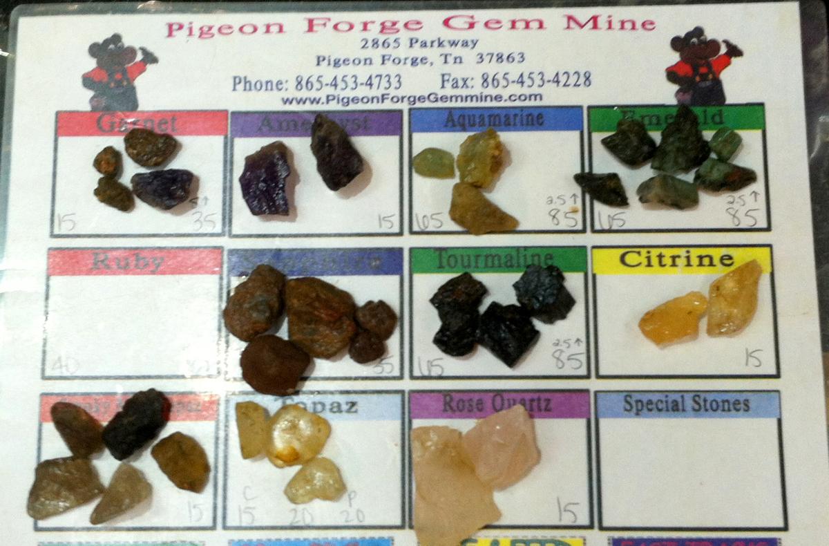 Gem Mining pigeon forge