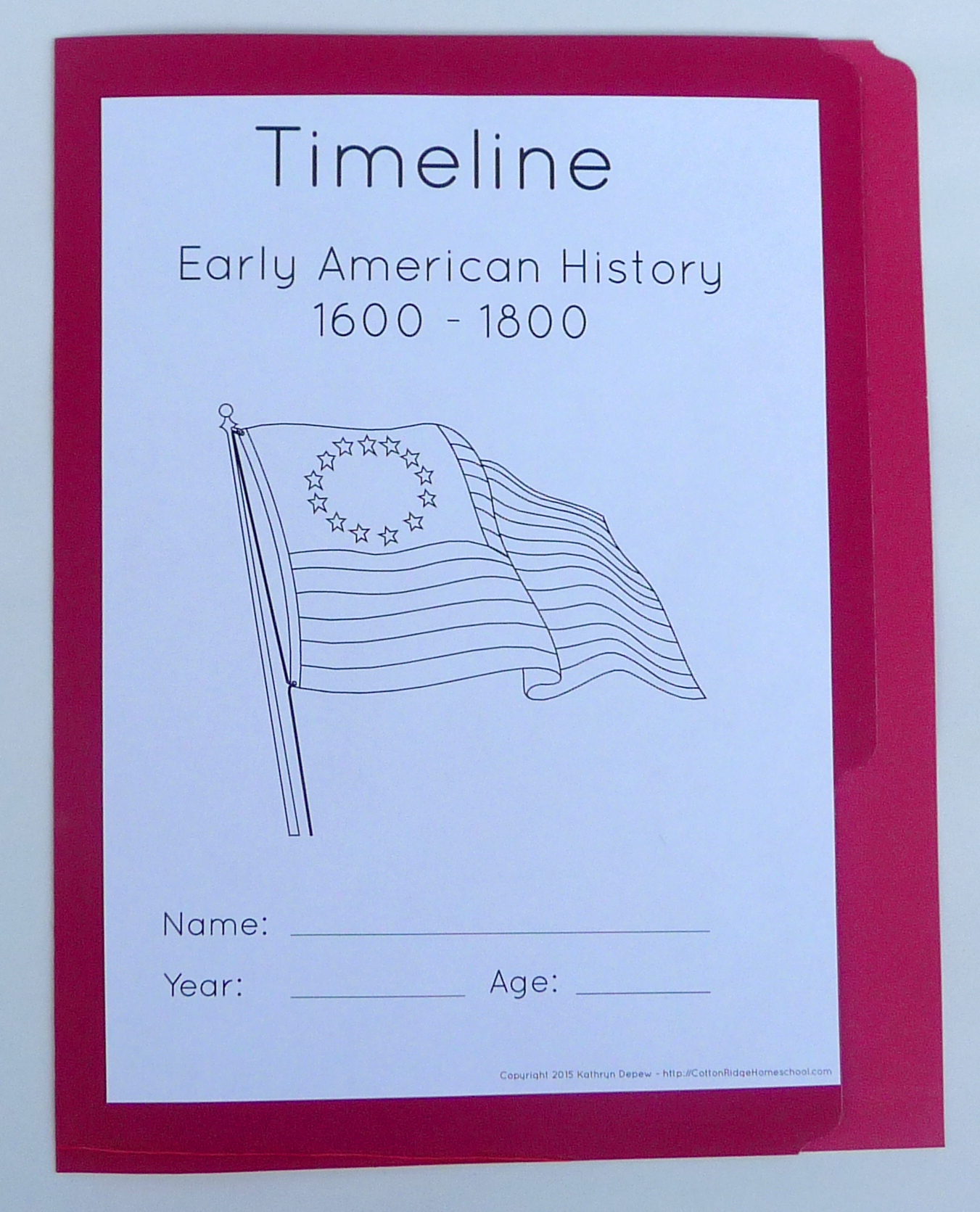 picture regarding Printable History Timeline identified as Early American Historical past ~ Timeline Folders and Poster with